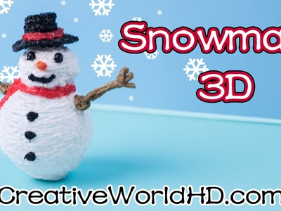 How to Make Snowman.Christmas Ornaments - 3D Printing Pen.Scribbler DIY Tutorial
