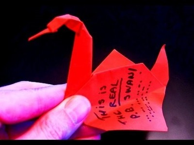 How to make the real Prison Break Origami Swan