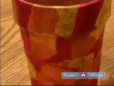 How To Make Tissue Paper Crafts : How To Decorate A Flower Pot With Tissue Paper