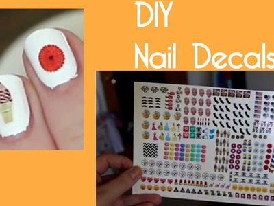 How To Make Water Decals For Nails (Clear & White) | OliviaMakeupChannel