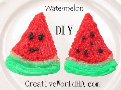How to Make Watermelon - 3D Printing Pen Creations.Scribbler DIY Tutorial