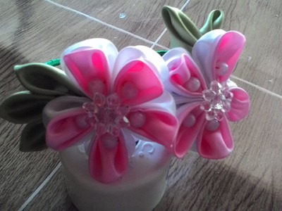 Kanzashi flowers,how to make it - DIY crafts tutorial