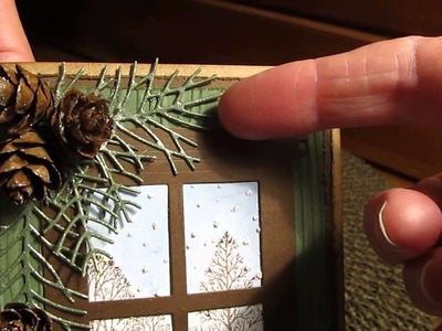 """""""MAKE IT WITH DIEMOND DIES - Christmas Window Card"""""""