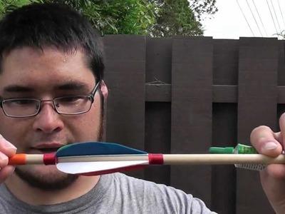 Making and Shooting a Four Fletch Dowel Arrow