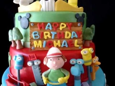 Mickey Mouse Club House, Handy Manny, & Little Einsteins Fondant Birthday Cake