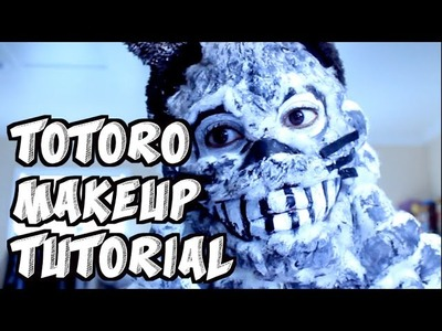 My Neighbor Totoro (Creepy) Halloween Makeup Tutorial DIY