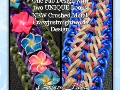NEW Crushed Metal Loom Bracelet (hook only) Tutorial.How to