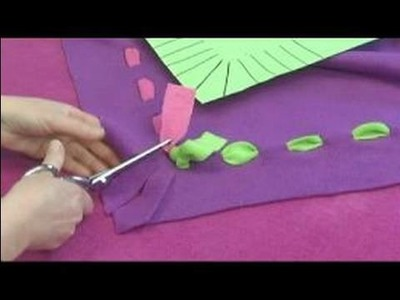 No-Sew Fleece Ponchos : Cutting Fringe for Two-Toned Ponchos