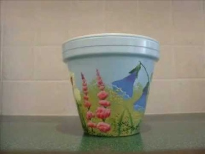 Flower pot decoration craft ideas my crafts and diy projects for Art and craft pot decoration