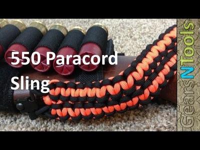 Paracord 550 sling for shotgun. Rifle DIY Instruction