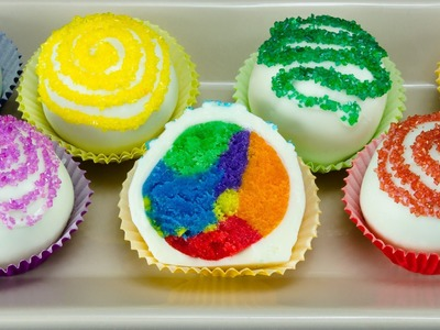 Rainbow Chocolate Truffles: How to Make by Cookies Cupcakes and Cardio