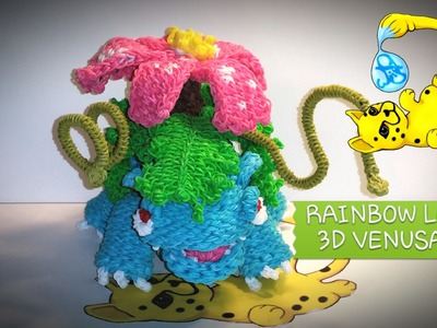 Rainbow Loom 3D Venusaur Pokémon (Part 5.12)