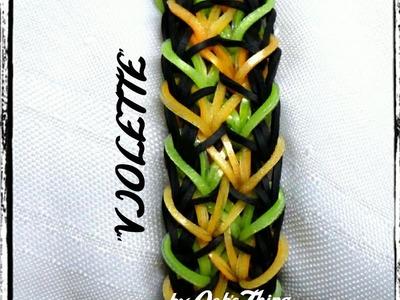 """Rainbow Loom Bracelet - Original Design - """"VIOLETTE"""" (ref #4vv)"""