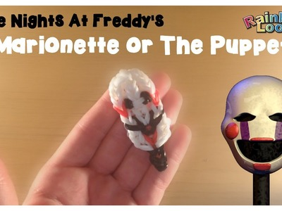 Rainbow Loom Five Nights at Freddy's Puppet\Marionette Charm Tutorial
