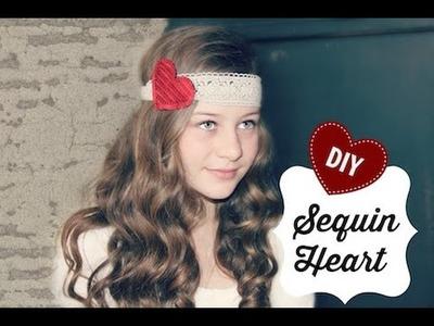 Sequin Heart DIY | ShowMeCute
