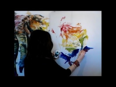 Speed Painting - Gorilla (Rainbow) The making of.