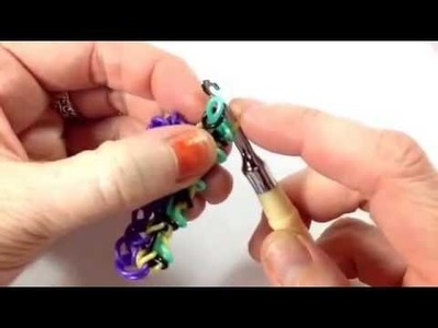 Spring Loaded bracelet tutorial (hook only) rainbow loom bands