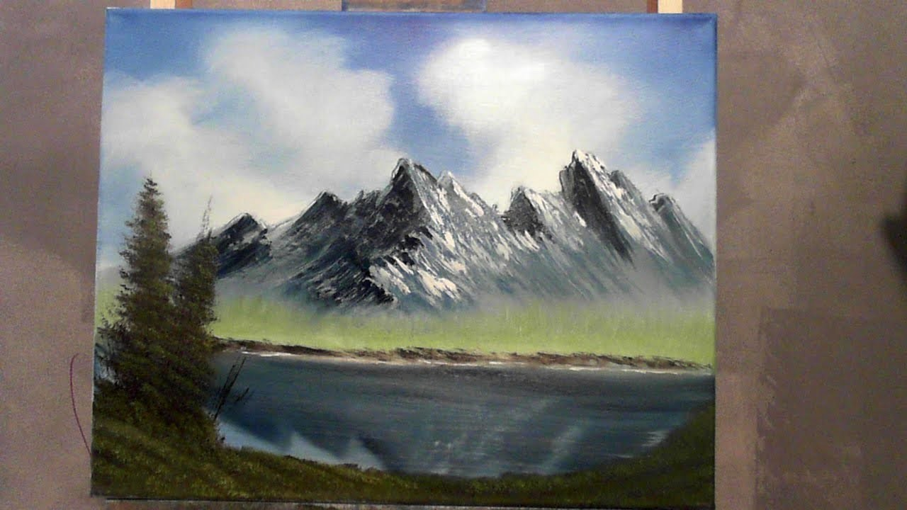 Very easy oil painting lesson for beginners wet on wet