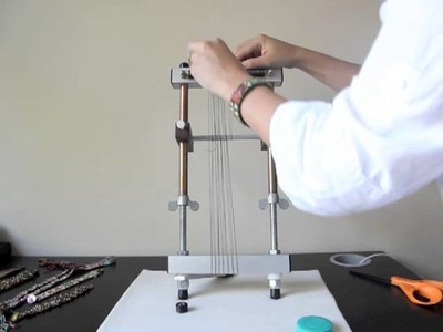 Warping for Bead Weaving without the SheddingDevice