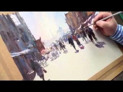 Watercolour Venetian Street Scene, Via Garibaldi (part two)