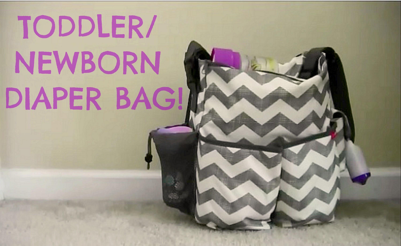 WHAT'S IN MY TODDLER.NEWBORN DIAPER BAG?!