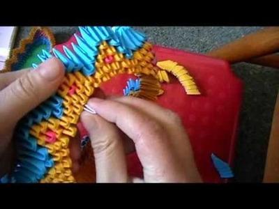 3D origami dragon boat part 2
