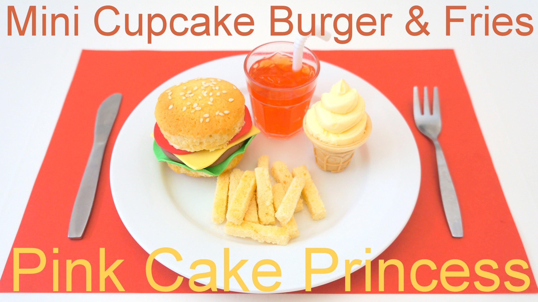 April Fools' Prank Trick Food Recipe - Mini Cupcake Burger & Fries Meal by Pink Cake Princess