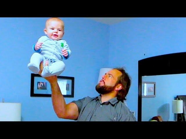 BAD DAD BABY BALANCING!