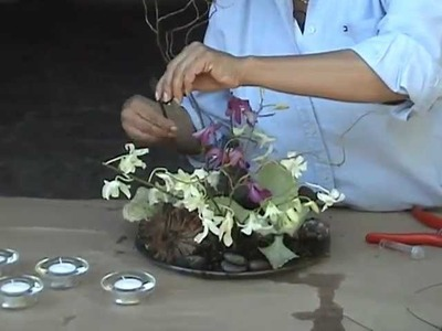 Centro de mesa con orquídeas DIY Centerpiece with orchids