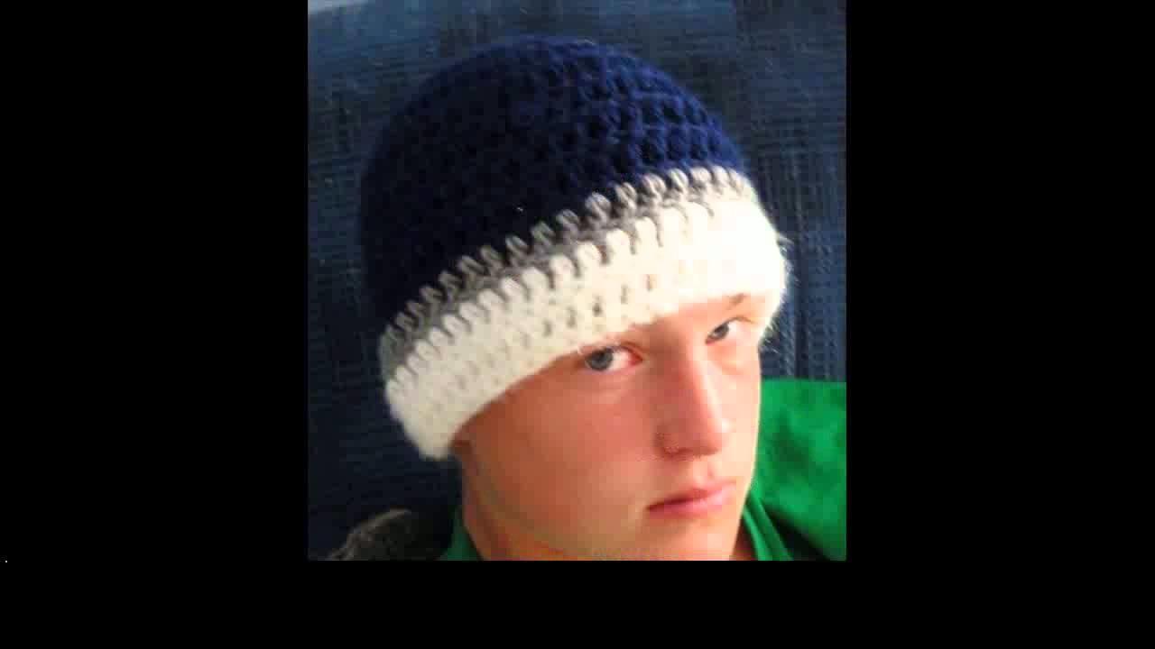 Crochet beanie hat for men