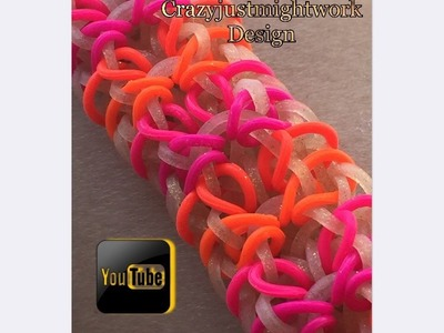 Crushed Glass Hook Only Loom Bracelet How to Tutorial
