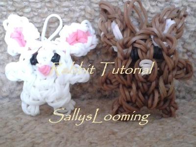Cute Rabbit Charm Loom Band Tutorial