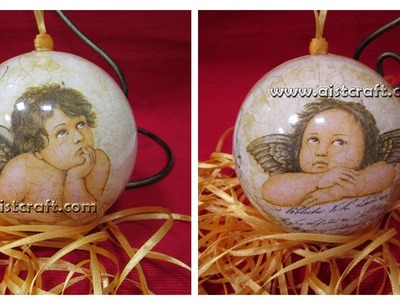 Decoupage tutorial  DIY. Christmas decoration handmade ideas. Weihnachten deko.