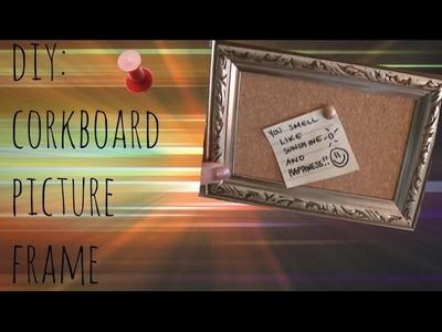 DIY Cork Board Picture Frame