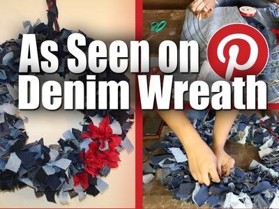 DIY Denim Wreath | Collab with RinaBabyTV