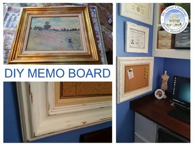 DIY Distressed Memo Board (Chalk Paint)