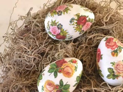 DIY: Floral Decoupage Easter Eggs