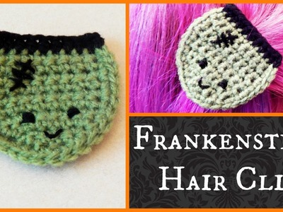 DIY Frankenstein's Monster Crochet Hair Clip How To Tutorial! ¦ The Corner of Craft