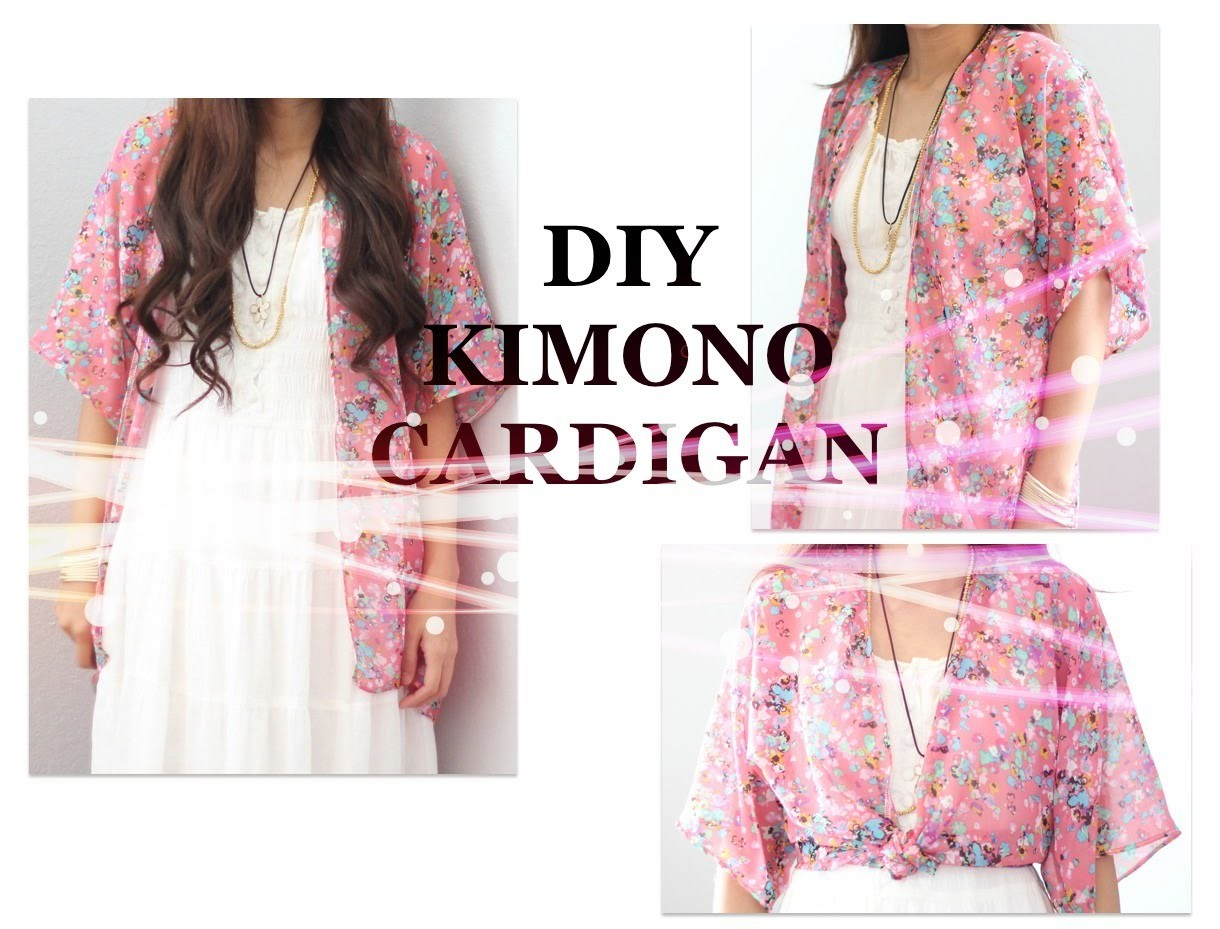 DIY Kimono Cardigan, Sewing Project for Beginners