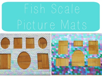 DIY: Mermaid Scale Picture Mats ♡ {Nursery Decor} ♡ Jessica Joaquin