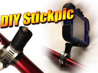 DIY stickpic mount to attach your camera to a trekking pole or stick
