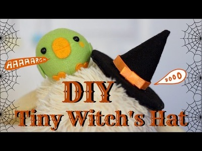DIY Tiny Witches Hat || Last Minute DIY