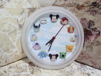 DIY Tsum Tsum Clock Process: IKEA Clock Makeover