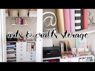 EASY Office Closet Makeover! Arts & Crafts Storage Closet | Charmaine Dulak