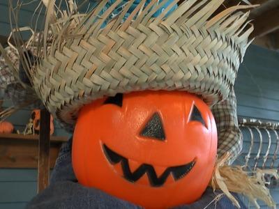 Happy Scarecrow DIY Halloween Project by Goodwill's Merri Cvetan