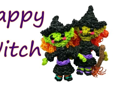Happy Witch Tutorial by feelinspiffy (Rainbow Loom)