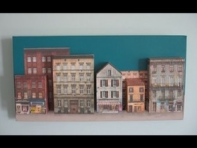 How To Create A 3D Canvas Wall Art Painting Of Buildings