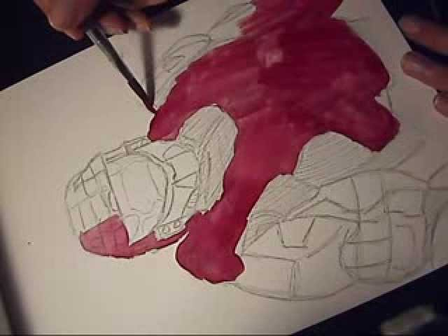 How To Draw Master Chief from HALO by GerArtProductions
