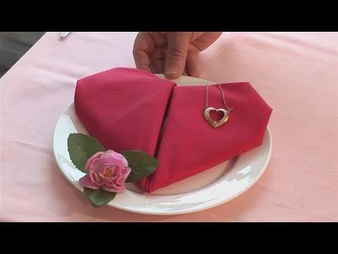 How To Make A Heart Napkin