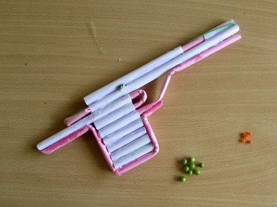 How to Make a Paper Airsoft Gun that Shoots Plastic bullets - Easy Tutorials